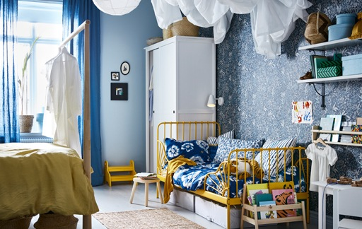 A cosy kid's bedroom within a bedroom - IKEA