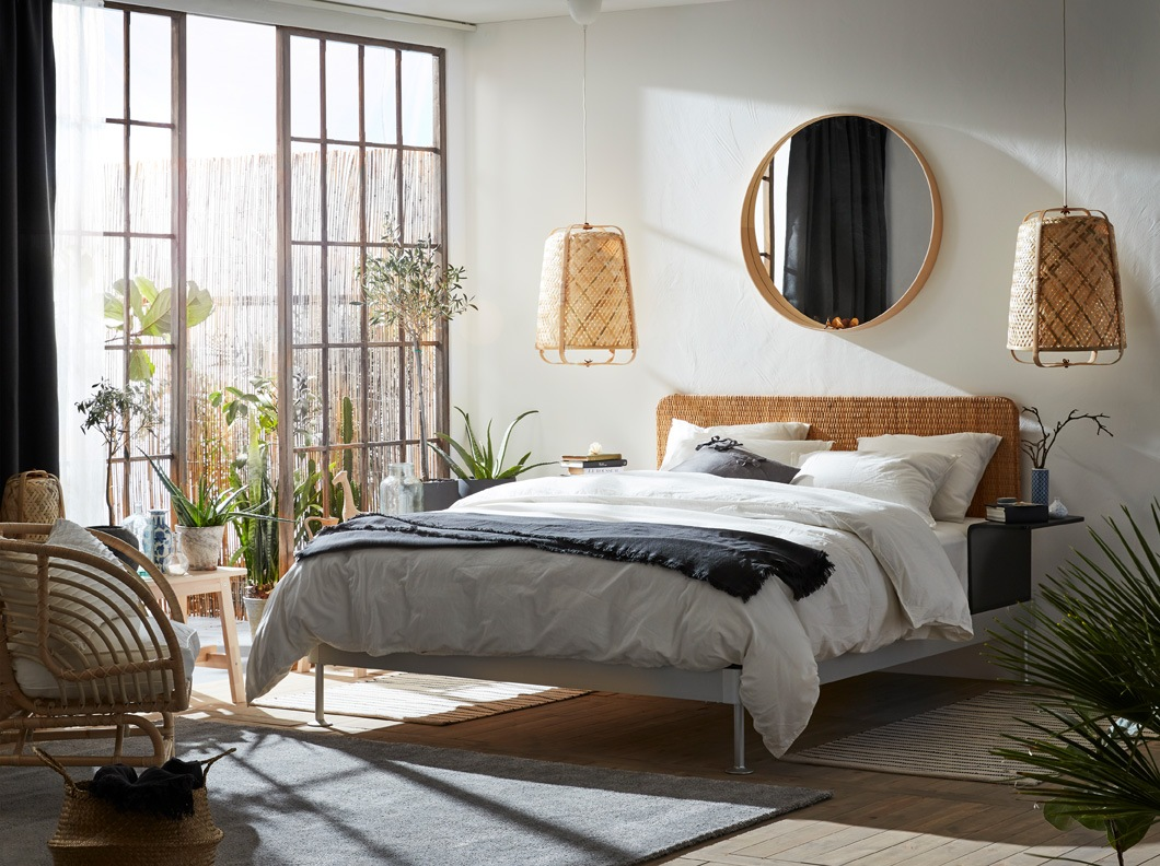 A bedroom that truly creates natural material cravings