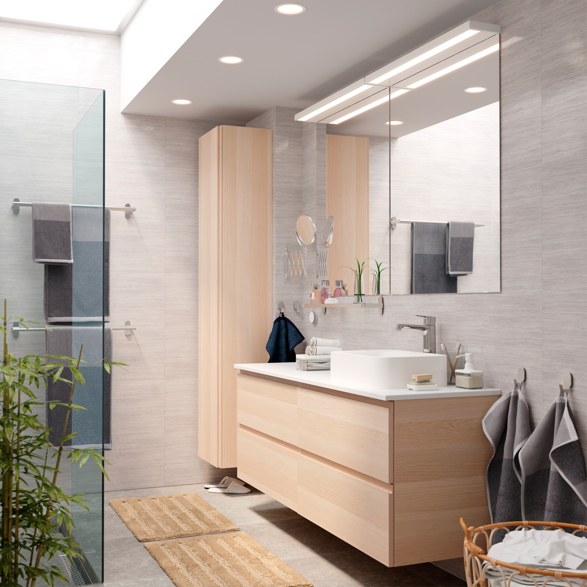 A bathroom with behind-the-scenes storage (HK Only)