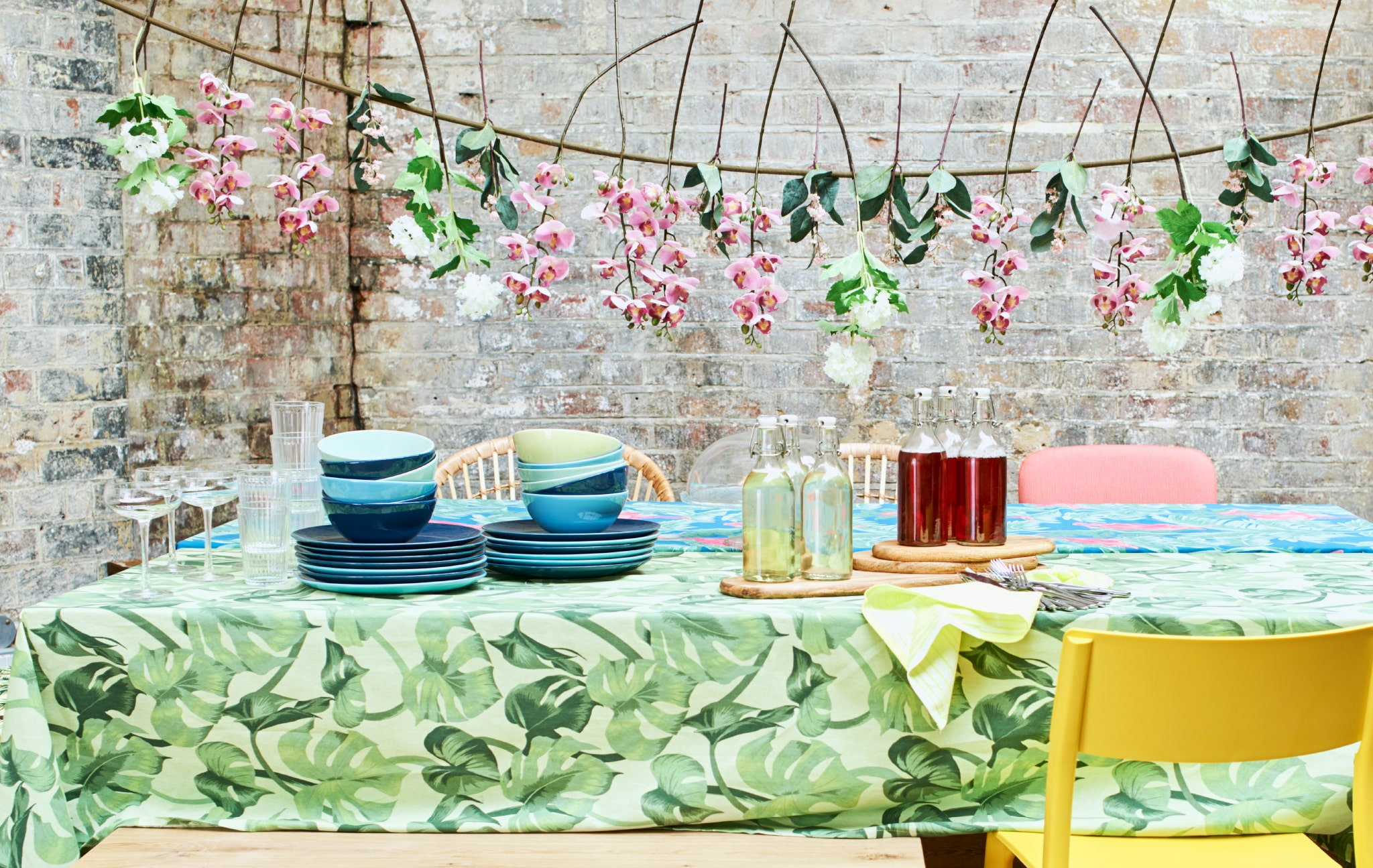 Home visit: table deco ideas for a summer party