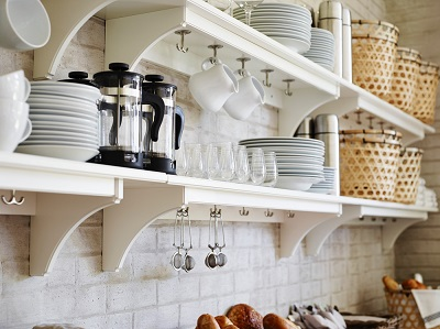 6 minimalist kitchen shelf inspirations for your home